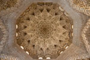 Plafond, Alhambra, Grenade