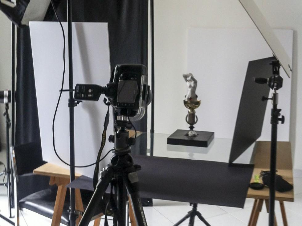 Photographie d'objet au studio
