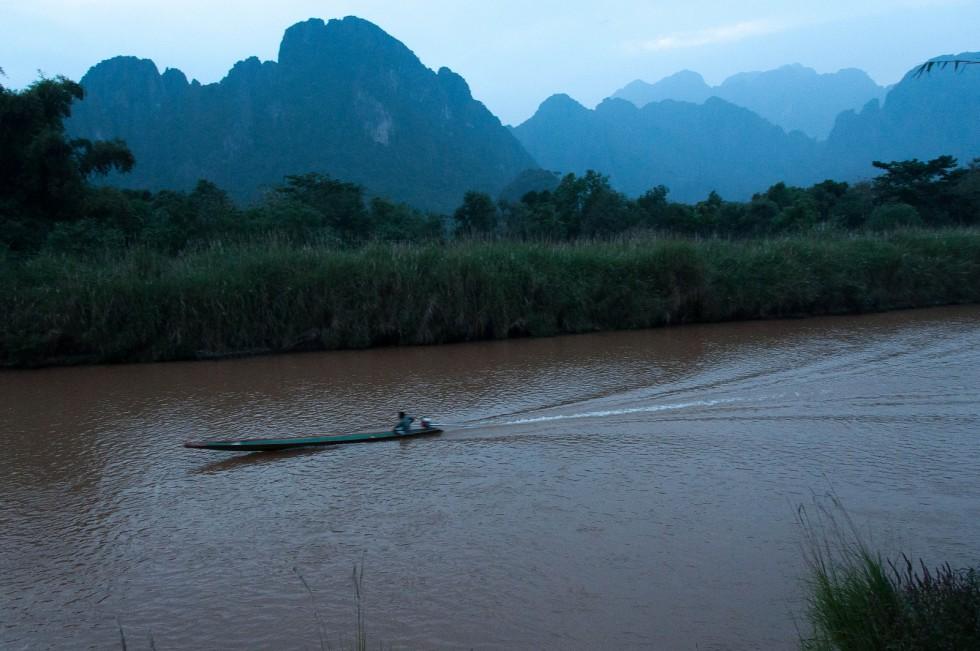 Relief Karstique, Nam Song river, Laos